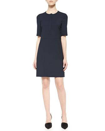 Slyra Half-Sleeve Crepe Dress