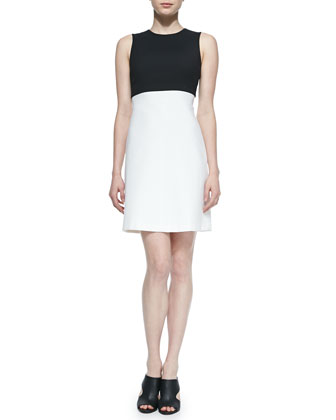 Raneid Two-Tone Crepe Dress