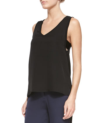 Alwa V-Neck Georgette Top