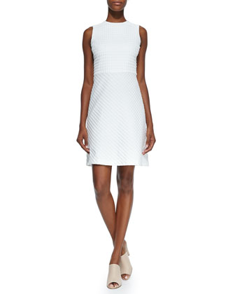 Raneid Textured A-Line Dress