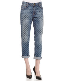 The Fling Polka-Dot Print Jeans