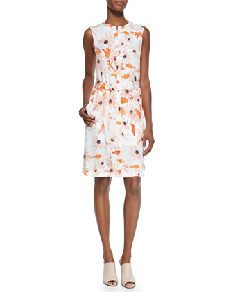 Linigole Floral-Print Belted Dress