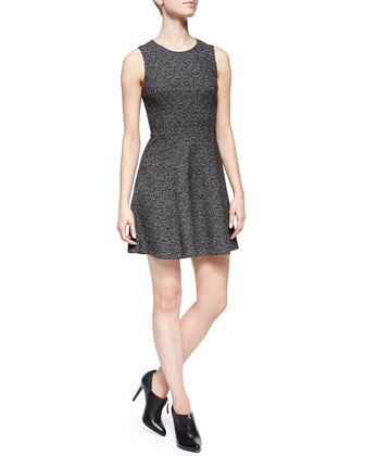 Tillora Textured Twill A-Line Dress