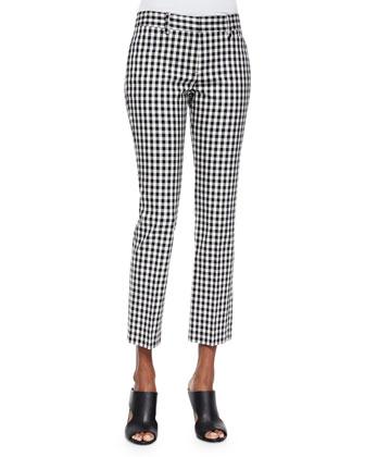 Izelle S. Barnet Check Cropped Pants