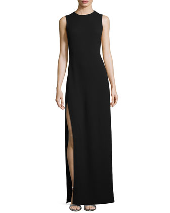 Column Gown with Back Cutout