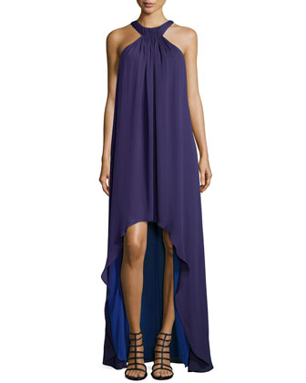 Halter-Style High-Low Gown