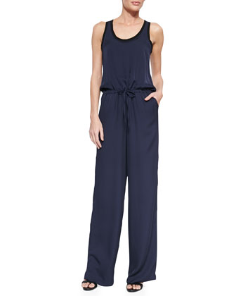 Zinena Sleeveless Drawstring Jumpsuit