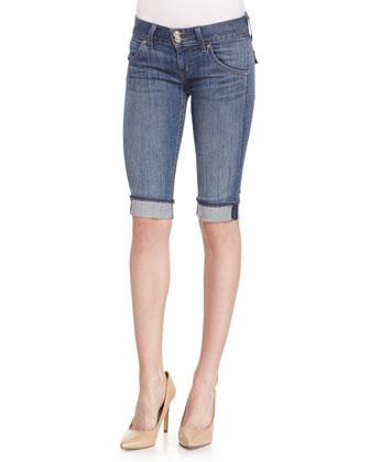 Palerme Tribute Stretch Denim Shorts