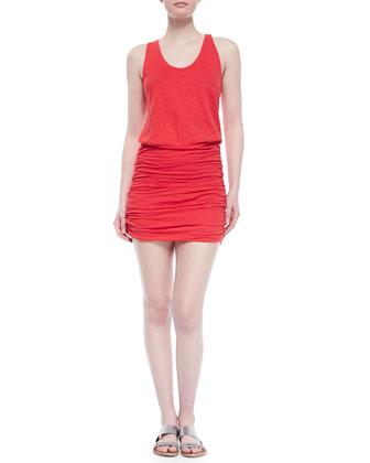 Bond Ruched-Skirt Blouson Dress