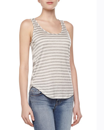 Bell Mixed-Stripe Tank Top
