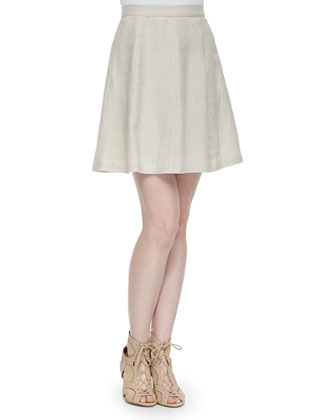 Loudivine Structured A-Line Skirt