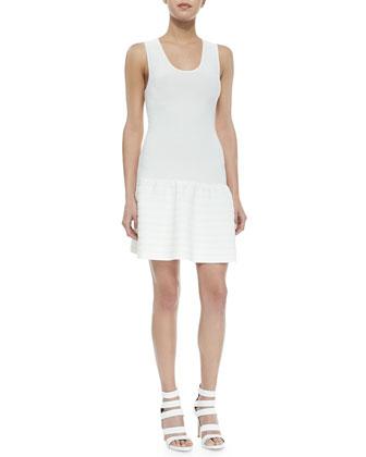 Maudette Dropped-Waist Knit Dress