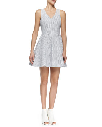 Norton Printed Flare-Skirt Dress