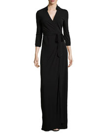 Abigail Matte Jersey Maxi Wrap Dress
