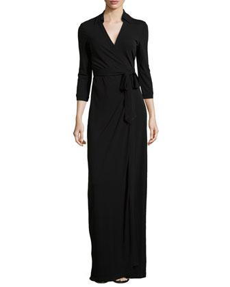 Abigail Matte Jersey Maxi Wrap Dress
