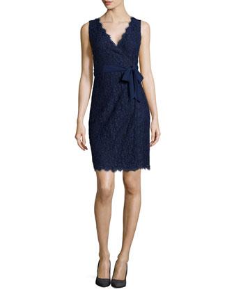 Juliana Sleeveless Lace Wrap Dress