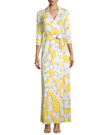 Abigail Silk Jersey Maxi Wrap Dress