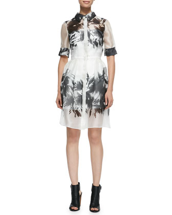 Floral Mirage Printed Shirtdress