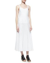 Jade Sleeveless Poplin A-Line Dress