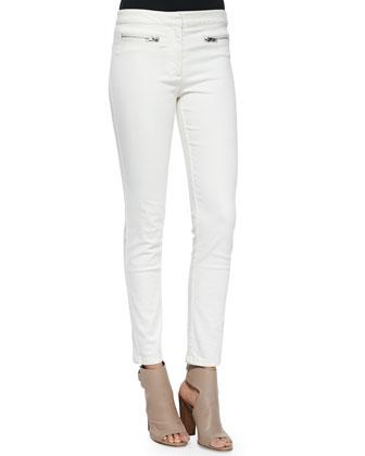 Slim-Fit Zip-Pocket Pants