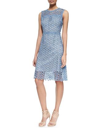 Ophelia Sleeveless Lace Overlay Dress