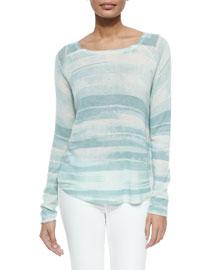 Long-Sleeve Lightweight Knit Sweater