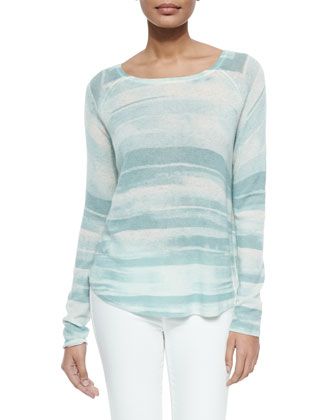 Long-Sleeve Lightweight Knit Sweater
