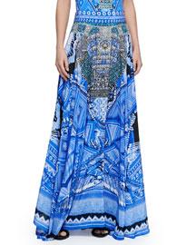 Full-Length Coverup Circle Skirt