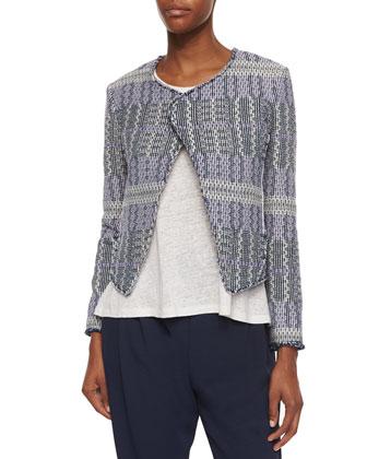 Angled Tweed Cropped Jacket