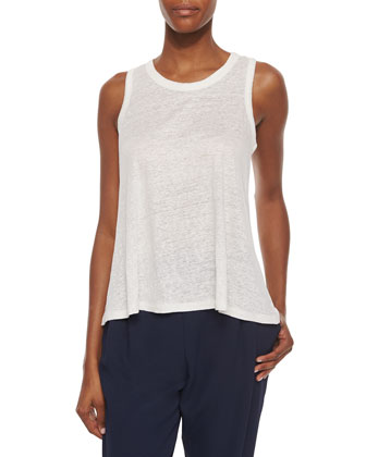 Loose Sleeveless Slub Top
