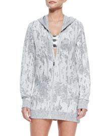 Hooded Boyfriend Oversize Zip Jacket