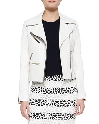 Anouk Leather Zipper Jacket