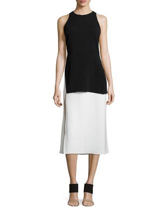 Mer Two-Tone Layered Dress