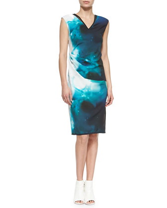 Ginger Starry Night Printed Sheath Dress