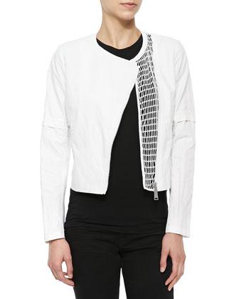 Della Cropped Zip Jacket