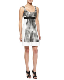 Daisy Empire-Waist Gingham Dress
