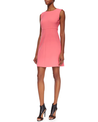 Carrie Sleeveless Crepe A-Line Dress