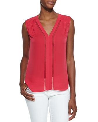 Goldie Sleeveless V-Neck Top