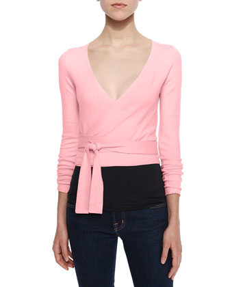 Long-Sleeve Knit Ballerina Cardigan