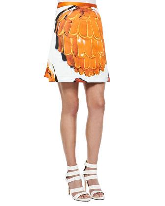 Doppio Printed A-Line Skirt
