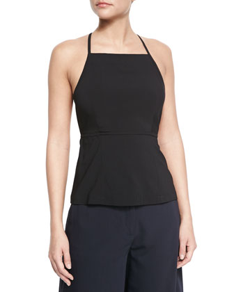 Amalay Open-Back Georgette Top