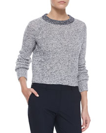 Brombly Cropped Knit Sweater