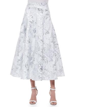 Brocade Matinee A-line Skirt