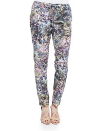 Slim Shady Abstract-Print Pants