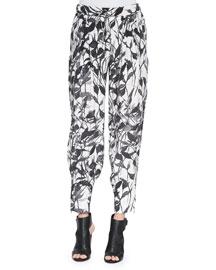 Champ Knit Floral-Print Pants