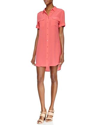 Signature Slim Short-Sleeve Shirtdress
