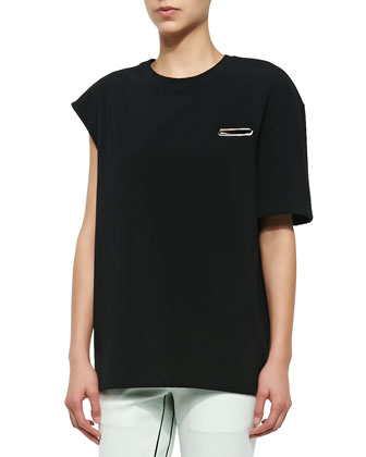 Berkeley One-Sleeve Boxy Top, Black