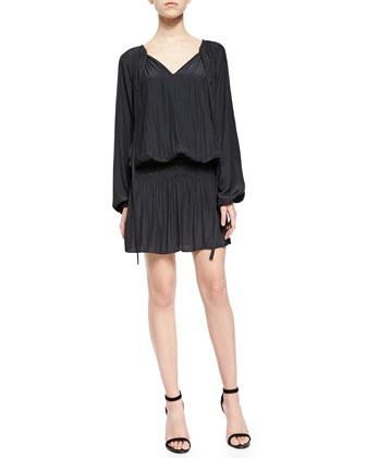 Paris Crinkled Voile Dress