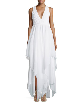 Mya Gathered Handkerchief Dress
