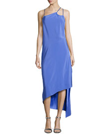 Sleeveless Asymmetric Strappy Dress